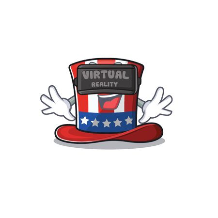 Cartoon uncle sam hat with virtual reality Иллюстрация