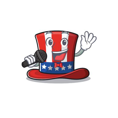Uncle sam hat with the singing cartoon