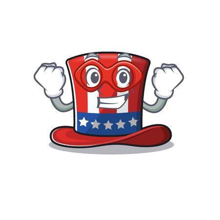 Mascot uncle sam hat super hero cartoon cute 向量圖像