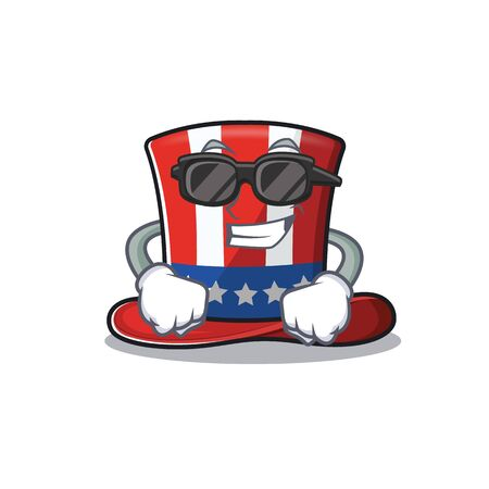Uncle sam hat in with super cool cartoon 向量圖像