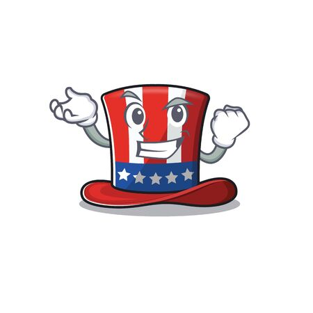 Character uncle sam hat with the successful 向量圖像