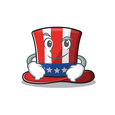 Mascot uncle sam hat the a smirking 向量圖像