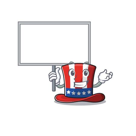 Cartoon uncle sam hat with bring board shape 向量圖像