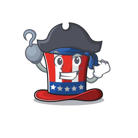 Cartoon uncle sam hat with the pirate