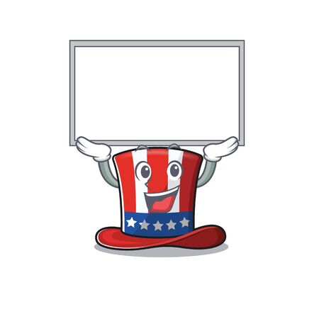 isolated uncle sam hat with up board 向量圖像