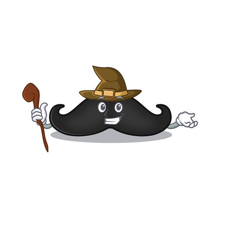 witch mustache with in the cartoon shape. Vector illustration