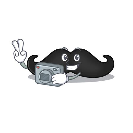 photographer mustache with in the cartoon shape. Vector illustration