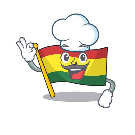 Character flag ghana in with cartoon chef . Vector illustration