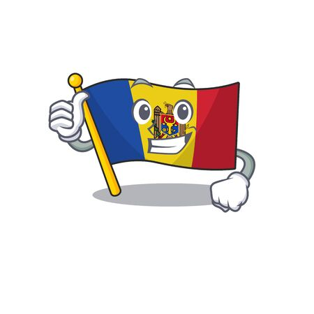 Cartoon flag madelova isolated in character thumbs up . Vector illustration Standard-Bild - 133694364