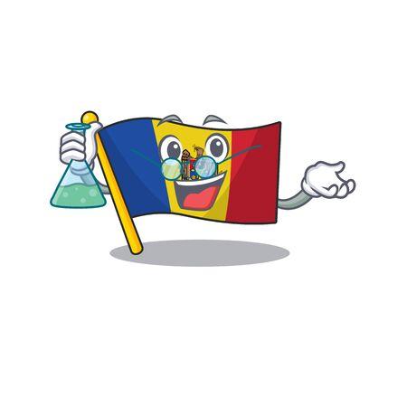 Cartoon flag madelova isolated in character professor . Vector illustration Standard-Bild - 133694369