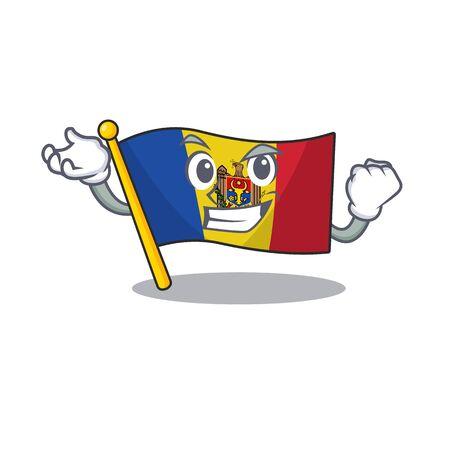 Cartoon flag madelova isolated in character successful . Vector illustration Standard-Bild - 133694449