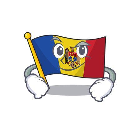 Cartoon flag madelova isolated in character smirking . Vector illustration Standard-Bild - 133694453