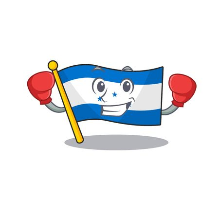 character on the cartoon flag honduras boxing . Vector illustration 向量圖像