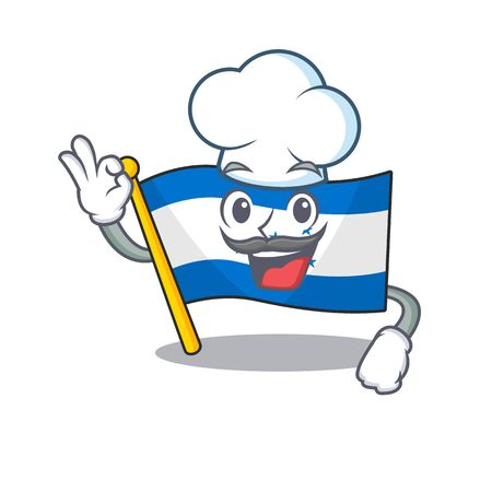 Flag honduras cartoon with in chef character. Vector illustration Ilustrace