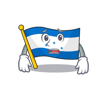 Cartoon flag honduras isolated in character afraid. Vector illustration Ilustração