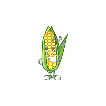Character thinking in the cartoon a corn