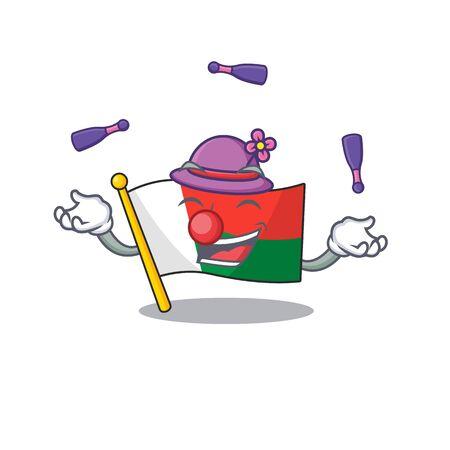 Character flag madelova isolated in cartoon juggling Vector illustration Reklamní fotografie - 133717147