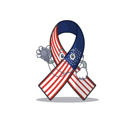 Cartoon usa ribbon with the doctor character. Archivio Fotografico - 134007941