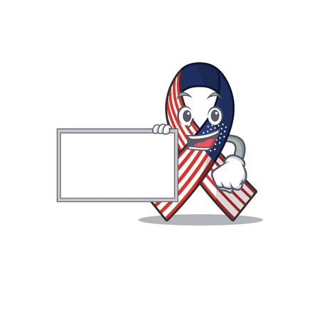 Cartoon usa ribbon with the with board character. Archivio Fotografico - 134007945
