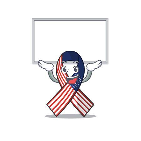 Cartoon usa ribbon with the up board character. Archivio Fotografico - 134007949