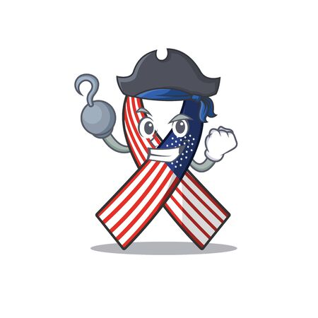 Cartoon usa ribbon with the pirate character. Archivio Fotografico - 134007951