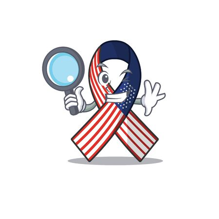 Character usa ribbon isolated on the detective Ilustrace