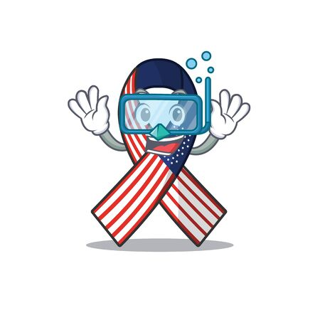Character usa ribbon isolated on the diving Archivio Fotografico - 134007863
