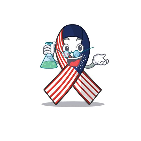 Character usa ribbon isolated on the professor Ilustrace