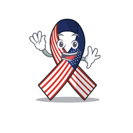 Character usa ribbon isolated on the waving Archivio Fotografico - 134007825