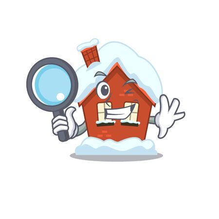 Winter house in the cartoon shape detective 스톡 콘텐츠 - 134006961