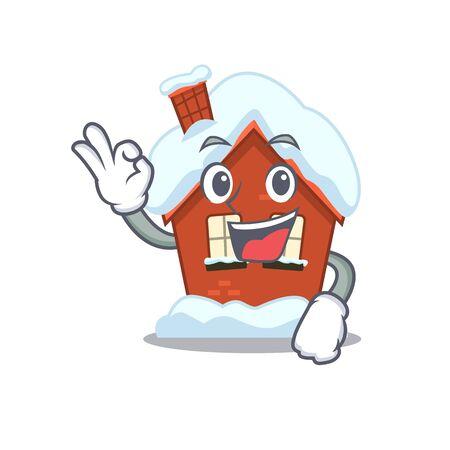 Winter house in the cartoon shape okay 스톡 콘텐츠 - 134006973