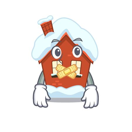 Silent winter house with in character shape