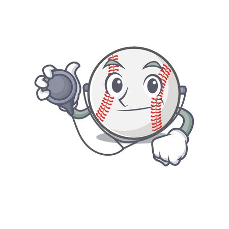 Cartoon baseball with in a character doctor 写真素材 - 134005400