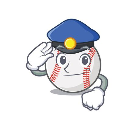 Cartoon baseball with in a character police  イラスト・ベクター素材