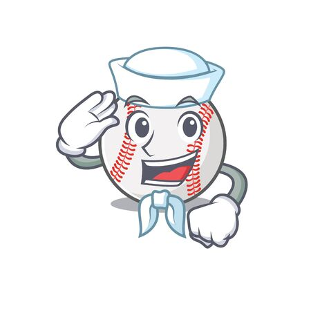 Cartoon baseball with in a character sailor