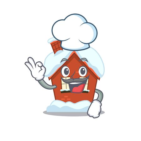 Winter house in the cartoon shape chef 스톡 콘텐츠 - 134005190