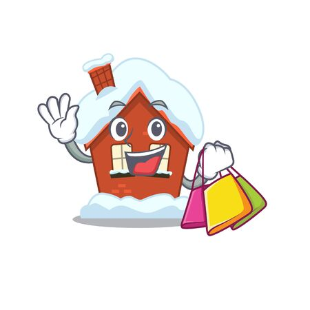 Winter house in the cartoon shape shopping 스톡 콘텐츠 - 134004744