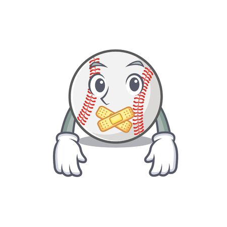 Cartoon baseball with in silent shape mascot 免版税图像 - 133870203