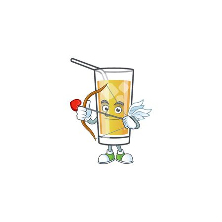 Cartoon sweet apple cider with cupid mascot