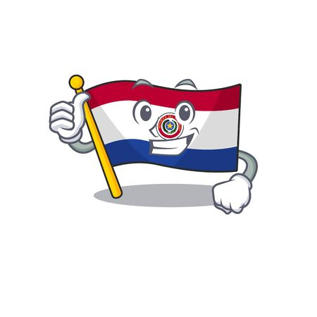 Cartoon flag paraguay isolated in thumbs up character . Vector illustration Reklamní fotografie - 133892798