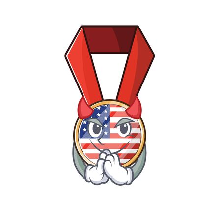Character usa medal isolated on the devil . Vector illustration