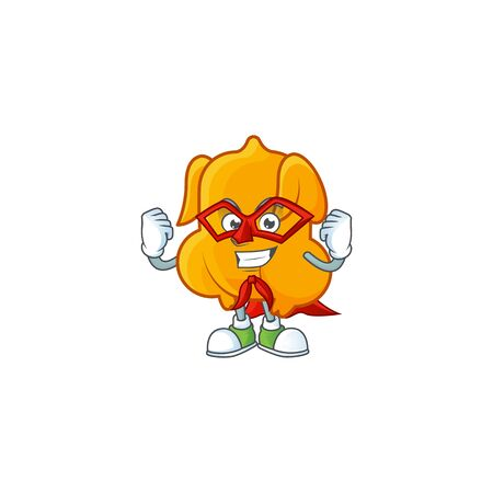Cartoon character fried chicken with mascot super hero vector illustration