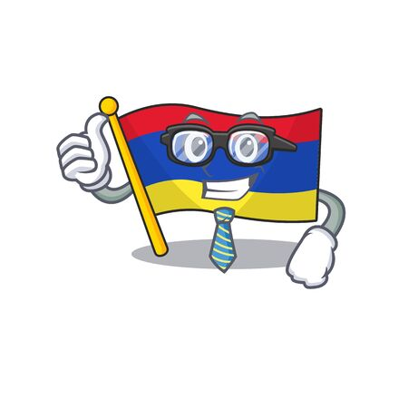 Cartoon flag armenia isolated in character businessman Stock Illustratie