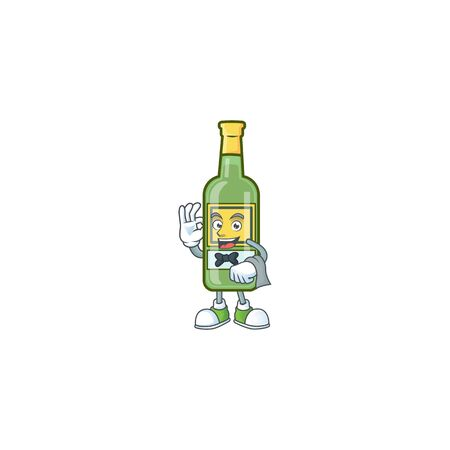 Character a waiter in the whiskey cartoon
