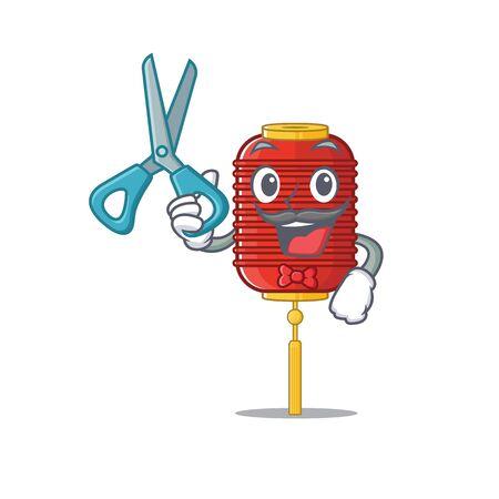 Happy Barber chinese lantern mascot cartoon character style