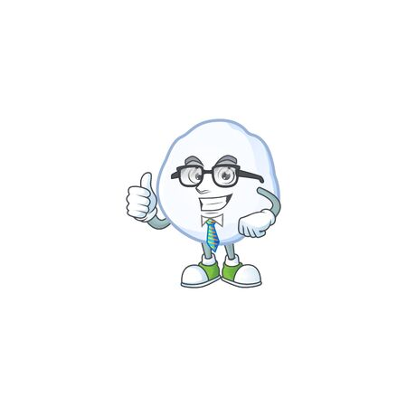 Cool Businessman snowball with mascot cartoon character. Vector illustration  イラスト・ベクター素材