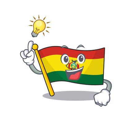 Have an idea cute flag bolivia on a cartoon style