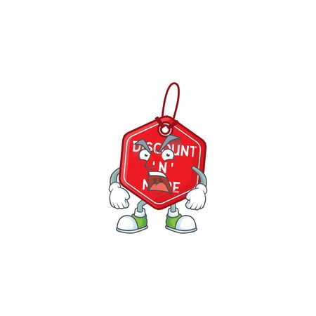 Mascot of angry christmas discount tag cartoon character design. Vector illustration Illustration