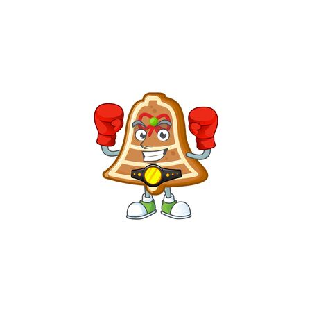Funny Boxing bell cookies cartoon character style. Vector illustration Archivio Fotografico - 134481082