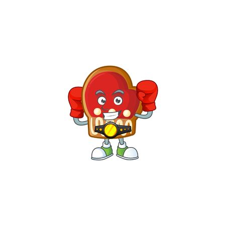 Funny Boxing gloves cookies cartoon character style Archivio Fotografico - 134541105